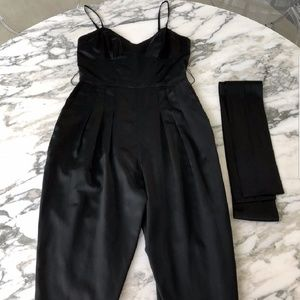French Connection Silk Jumpsuit
